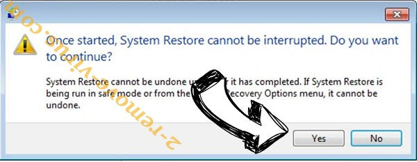Striked ransomware removal - restore message