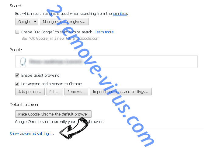 Euro-search.net  Chrome settings more