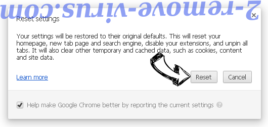Get Free Translations Chrome reset
