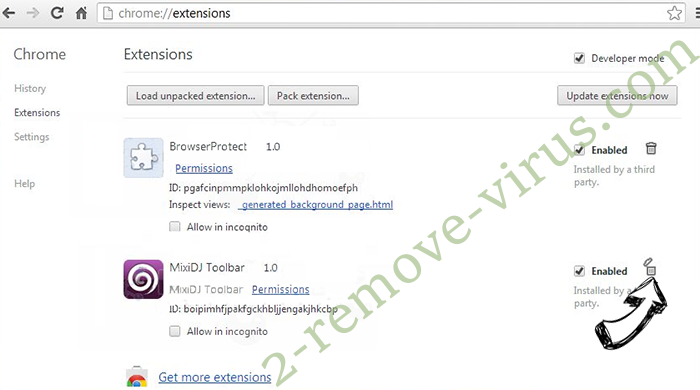 Kenyarhino.com Virus Chrome extensions remove