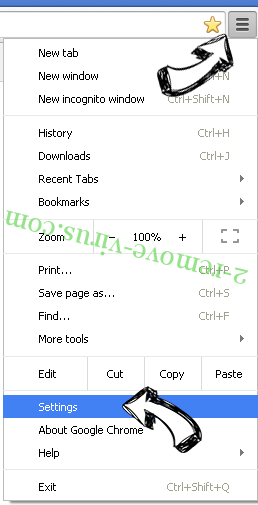 MyCouponize Chrome menu