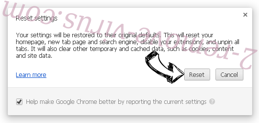 OnlineMusic Search Redirect Chrome reset