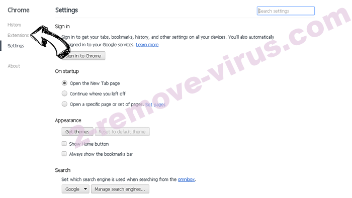 Kenyarhino.com Virus Chrome settings