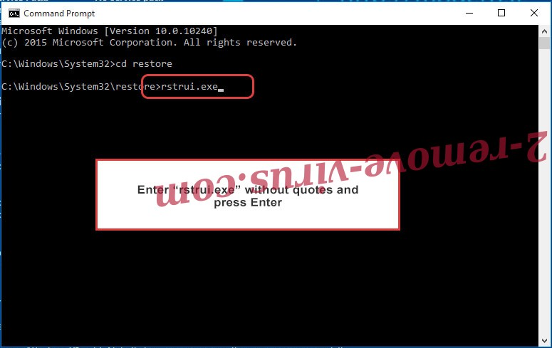 Delete .Srpx virus - command prompt restore execute