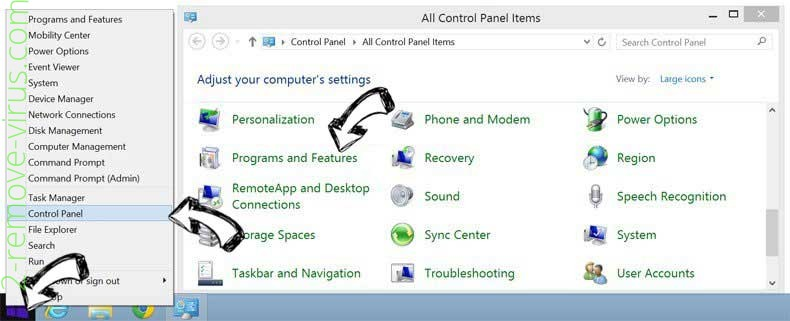 Delete Mystartshield.com virus from Windows 8