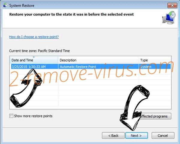 .Srpx virus - restore point
