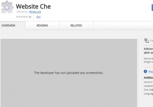Menghapus ekstensi Website Che