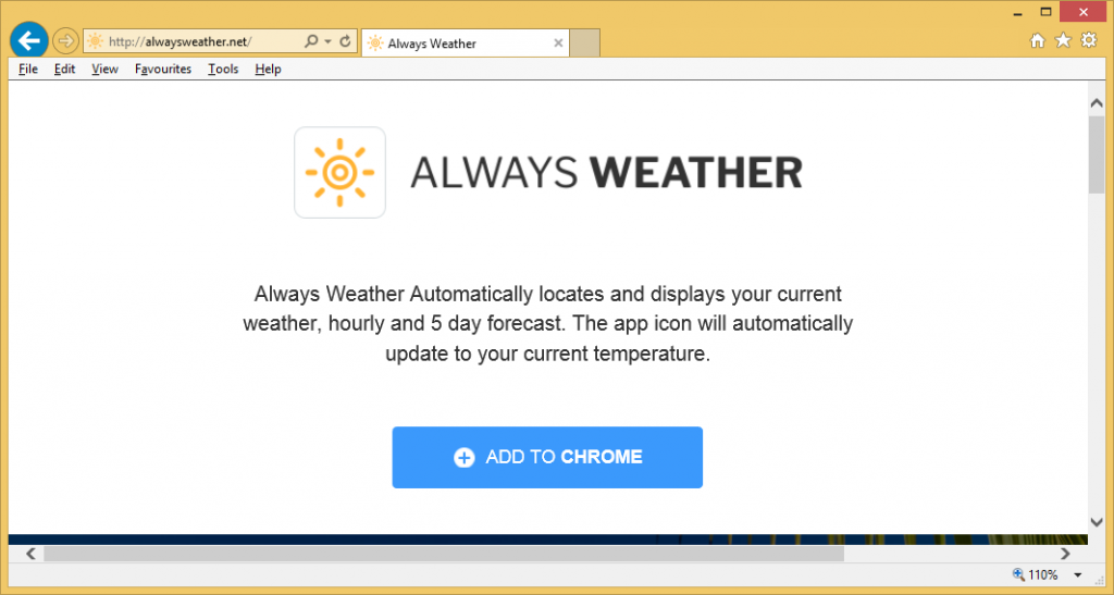 Always Weather virus from chrome
