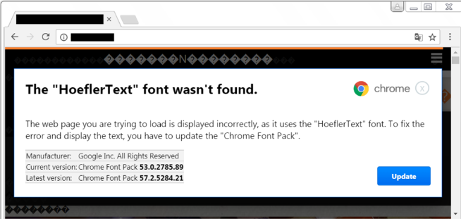 Chrome HoeflerText font update spreads RAT malware