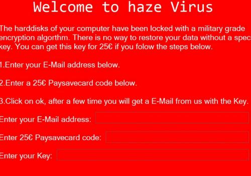 Haze ransomware virus rimozione