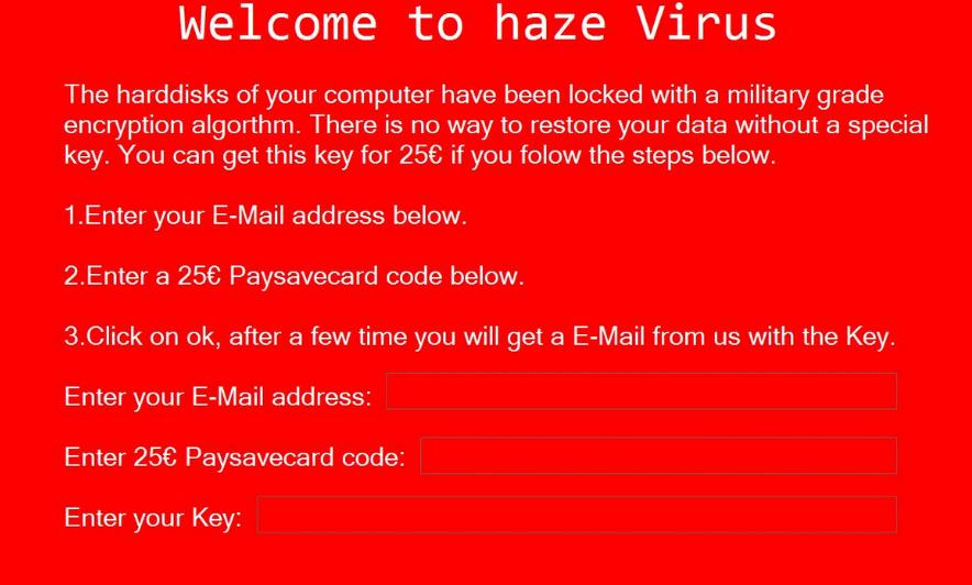 Haze ransomware virus