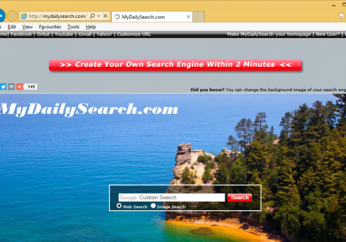 Menghapus Mydailysearch.com Redirect