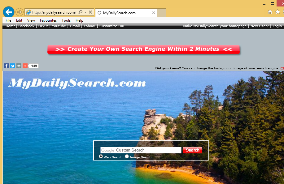 Odstranit Mydailysearch.com Redirect