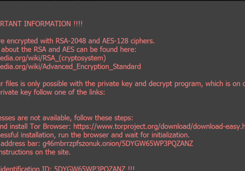 Fjerne RotorCrypt Ransomware
