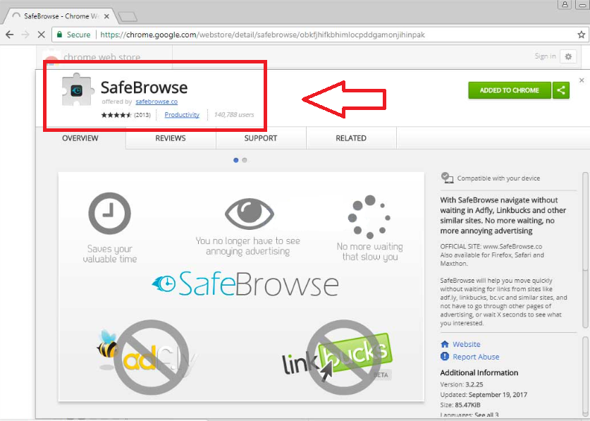 SafeBrowse Chrome Extension