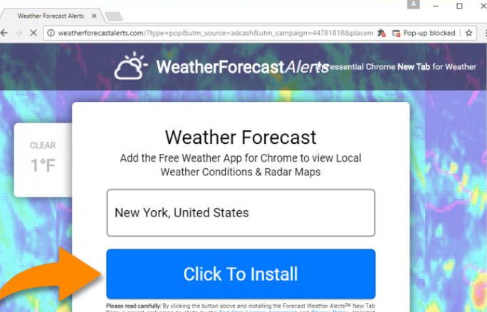 Search Weather Forecast Virus