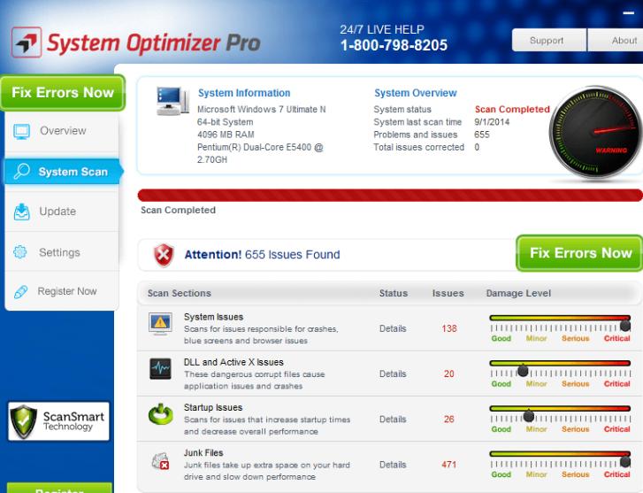 Remoção de System Optimizer Pro
