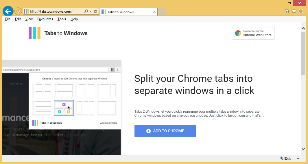 Poista Tabs to Windows