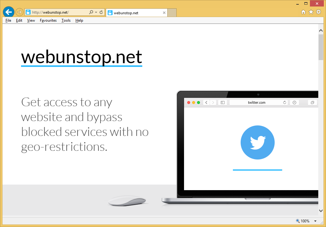 Fjern Webunstop Adware
