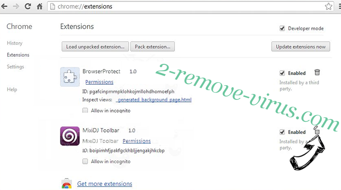 MyOneSearch.net Chrome extensions remove