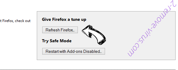 privacyCenter Firefox reset