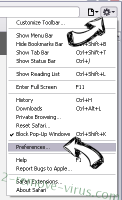 privacyCenter Safari menu