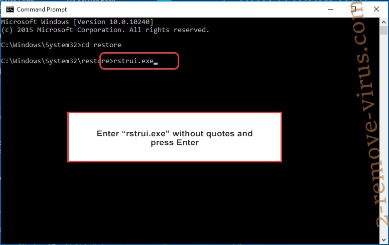 Delete .srpx File Virus - command prompt restore execute