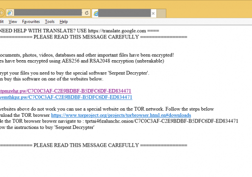 Fjerne .srpx File Virus