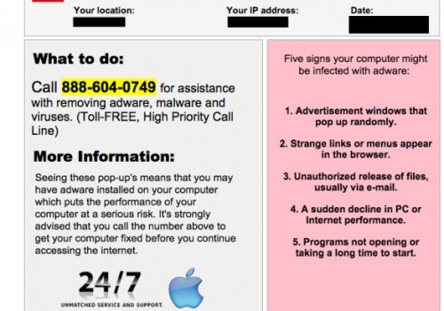 Eliminar Apple Warning Alert Virus