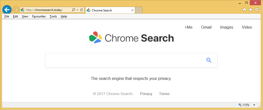 Rimuovere Chromesearch.today Virus