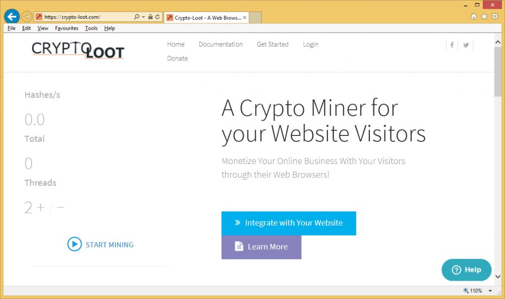 Crypto-Loot Miner Trojan