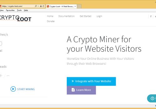 Távolítsa el a Crypto-Loot.com Miner Trojan
