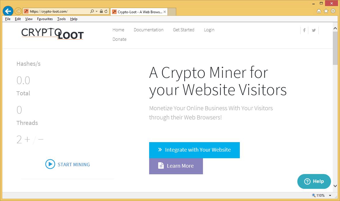 Κατάργηση Crypto-Loot.com Miner Trojan