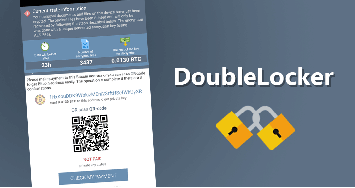 DoubleLocker Android ransomware locks your screen and encrypts your data