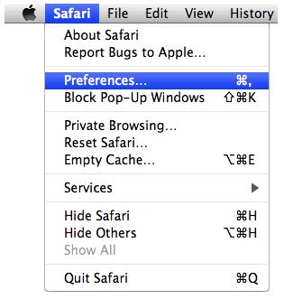 Launch Safari
