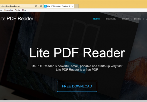 How to remove Lite PDF Reader