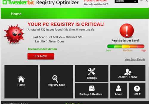 Odstranit Tweakerbit Registry Optimizer