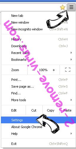 Be-notified.com Chrome menu