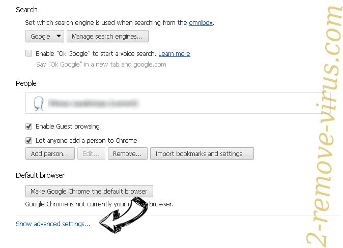 Be-notified.com Chrome settings more
