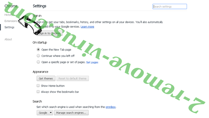 Be-notified.com Chrome settings