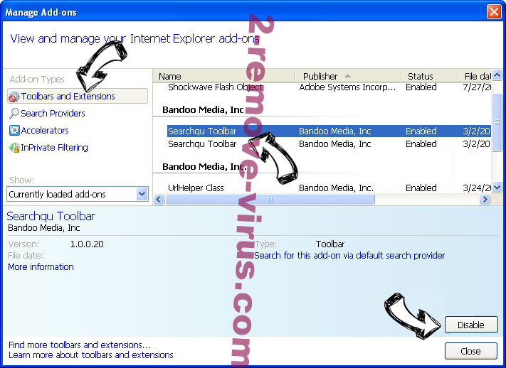 Search.hthenewssource.net IE toolbars and extensions