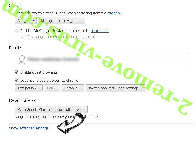 Brainfinds.com Search Chrome settings more
