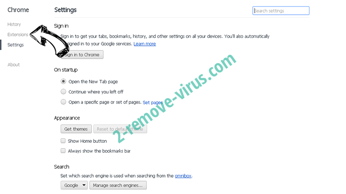 Brainfinds.com Search Chrome settings