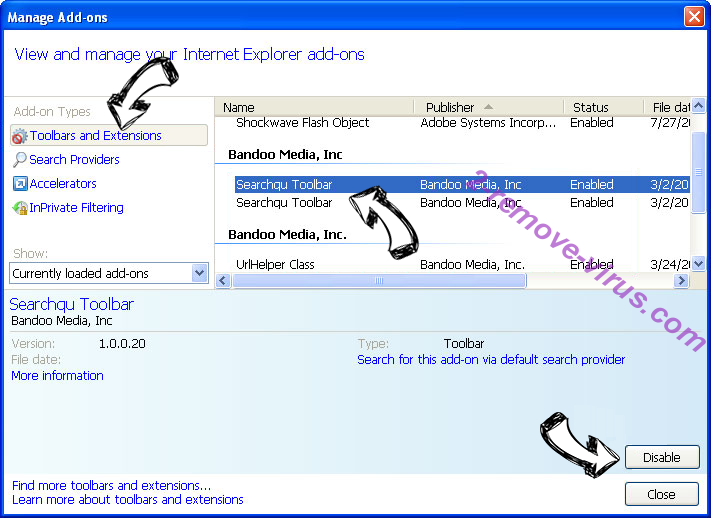 Brainfinds.com Search IE toolbars and extensions