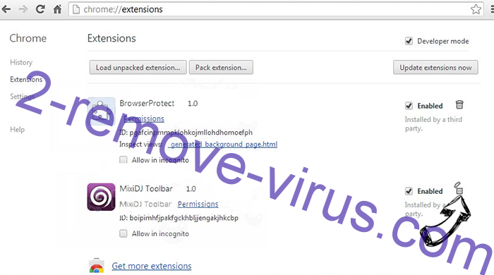 Ariocroft.com virus Chrome extensions remove