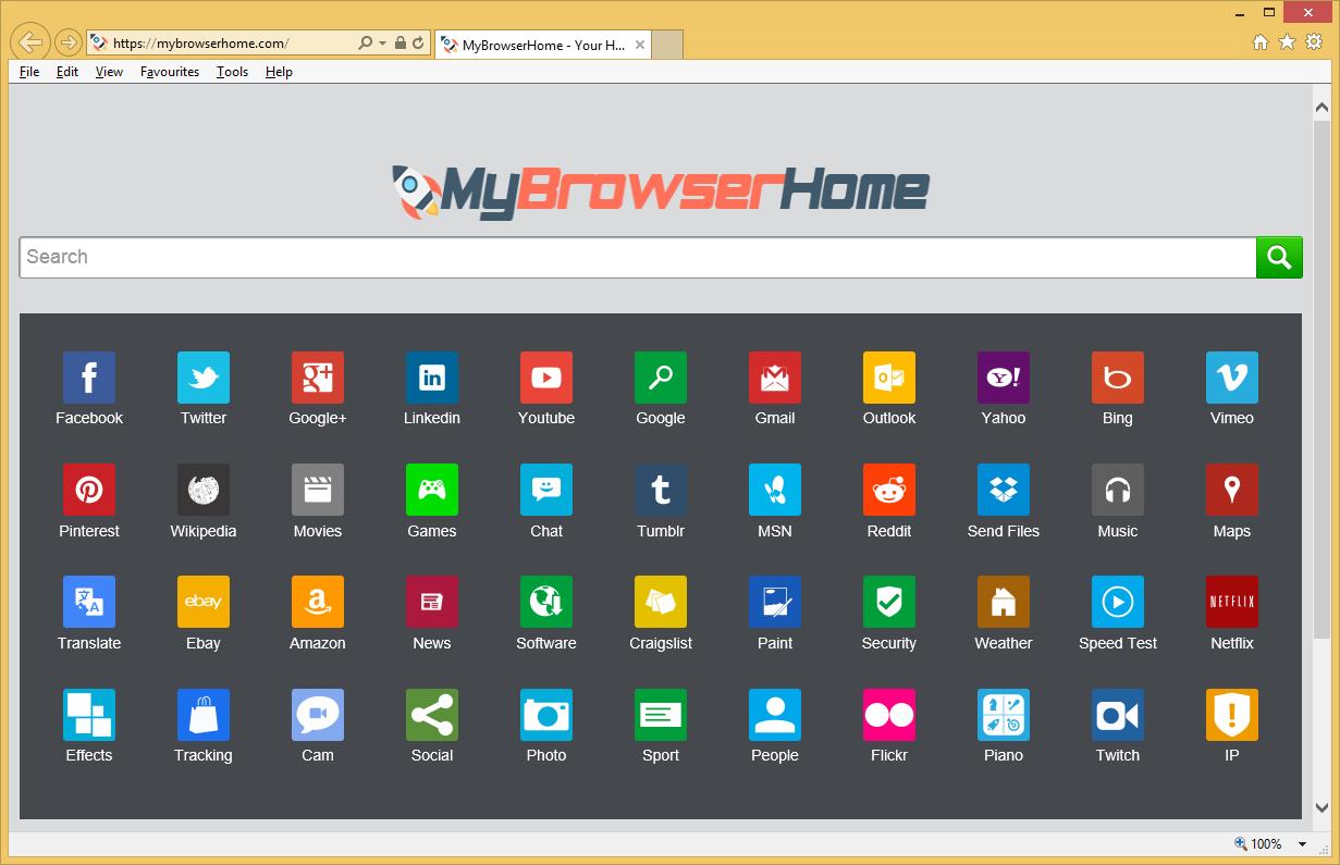MyBrowserHome.com การลบ