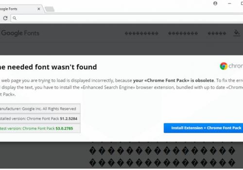 "Удаление ""The Needed Font Wasn't Found"" Scam"
