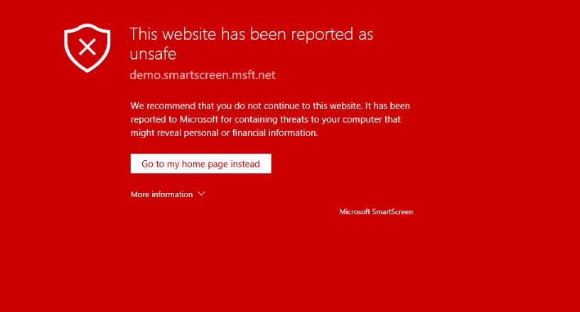 Avoid unsafe websites