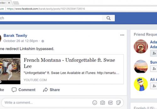Fejl i Facebook tillader jer hen til spool links
